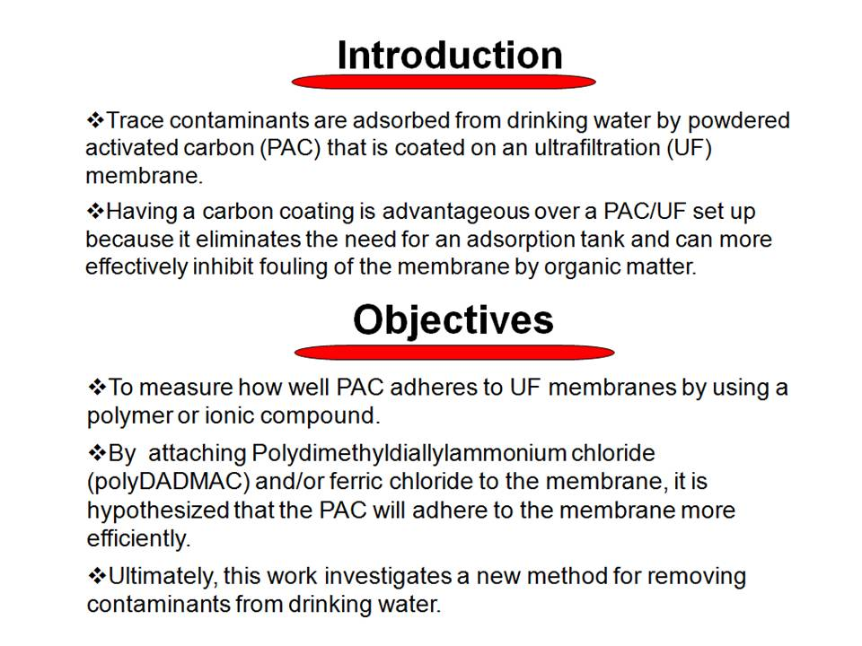 Powdered Activated Carbon on Ultrafiltration Membranes